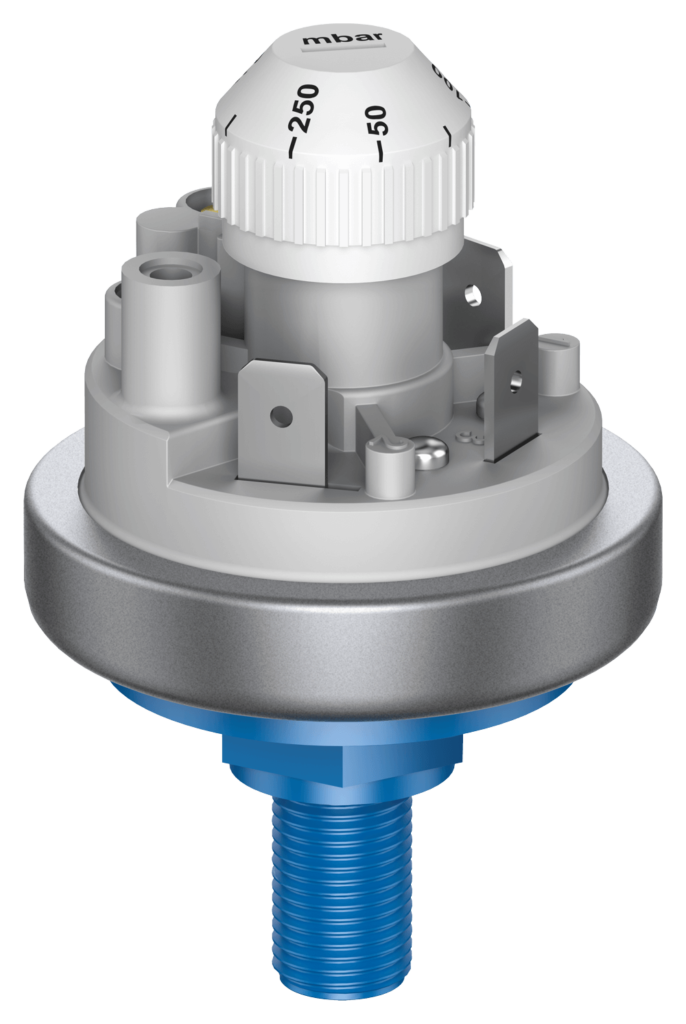 Pressure switch 901 Prescal® adjustable with plastic pressure connection