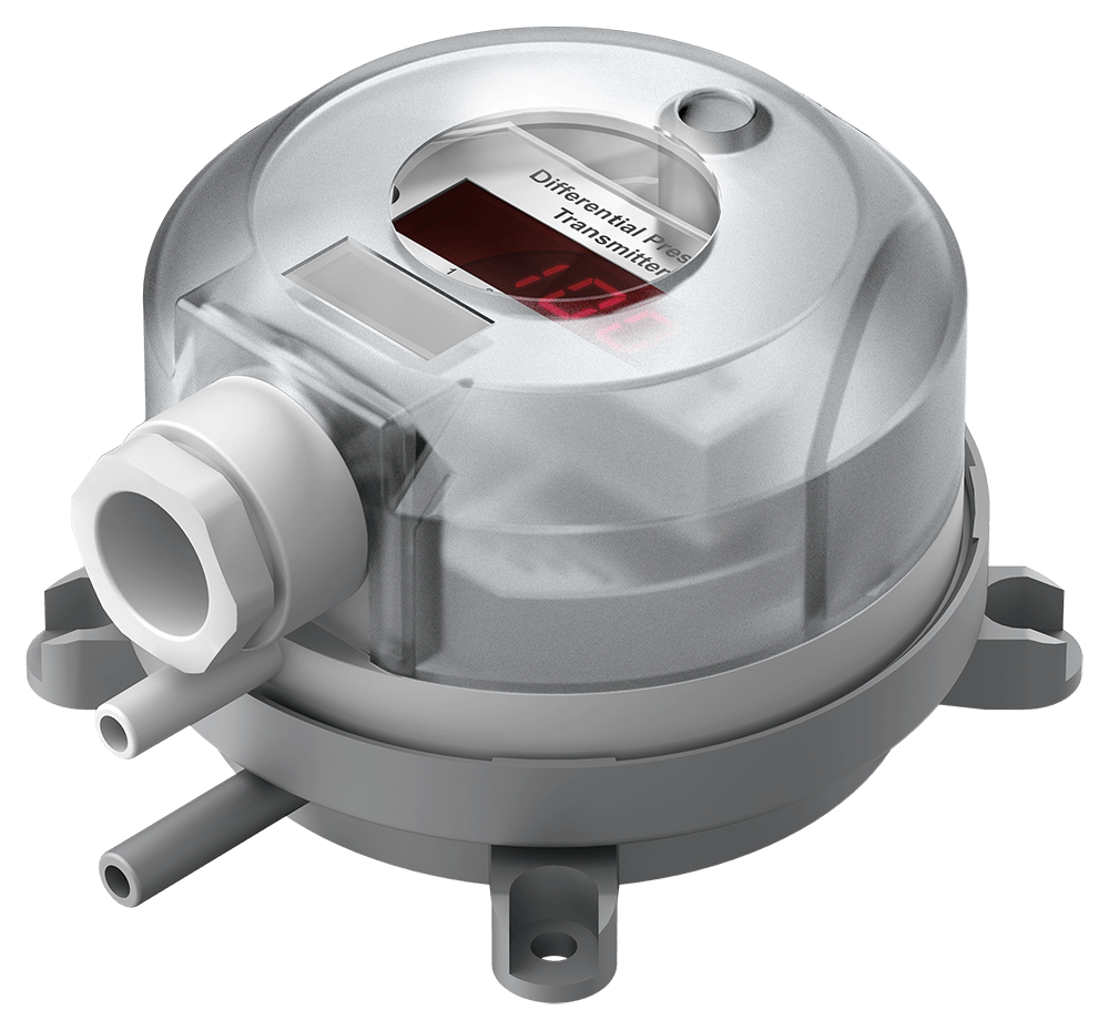 Differential Pressure Transmitter 984 with display and cable conduit