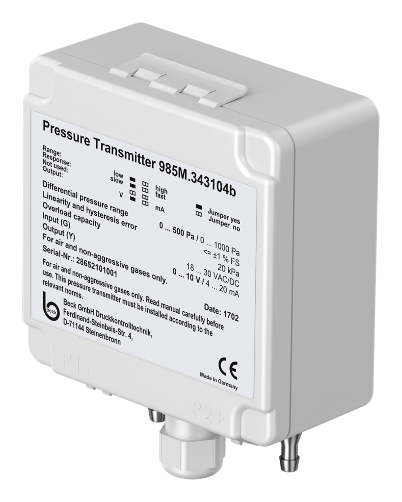 Differential Pressure Transmitter 985M with manual offset calibration
