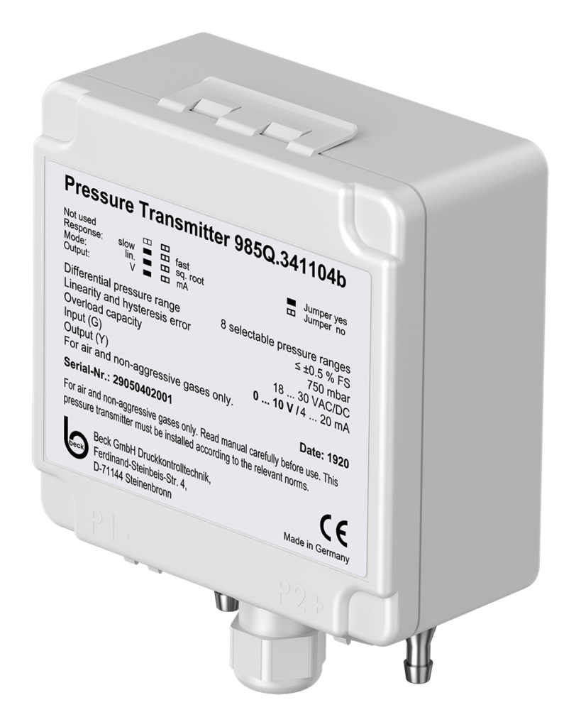 Differential Pressure Transmitter 985Q with automatic offset calibration
