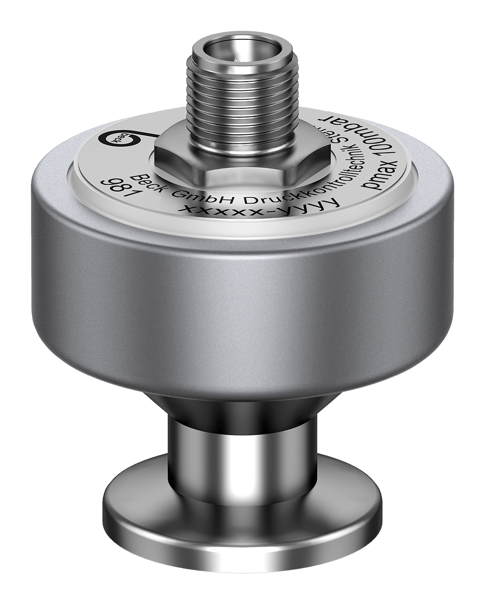 Pressure Transmitter 981 with stainless steel flange pressure connection