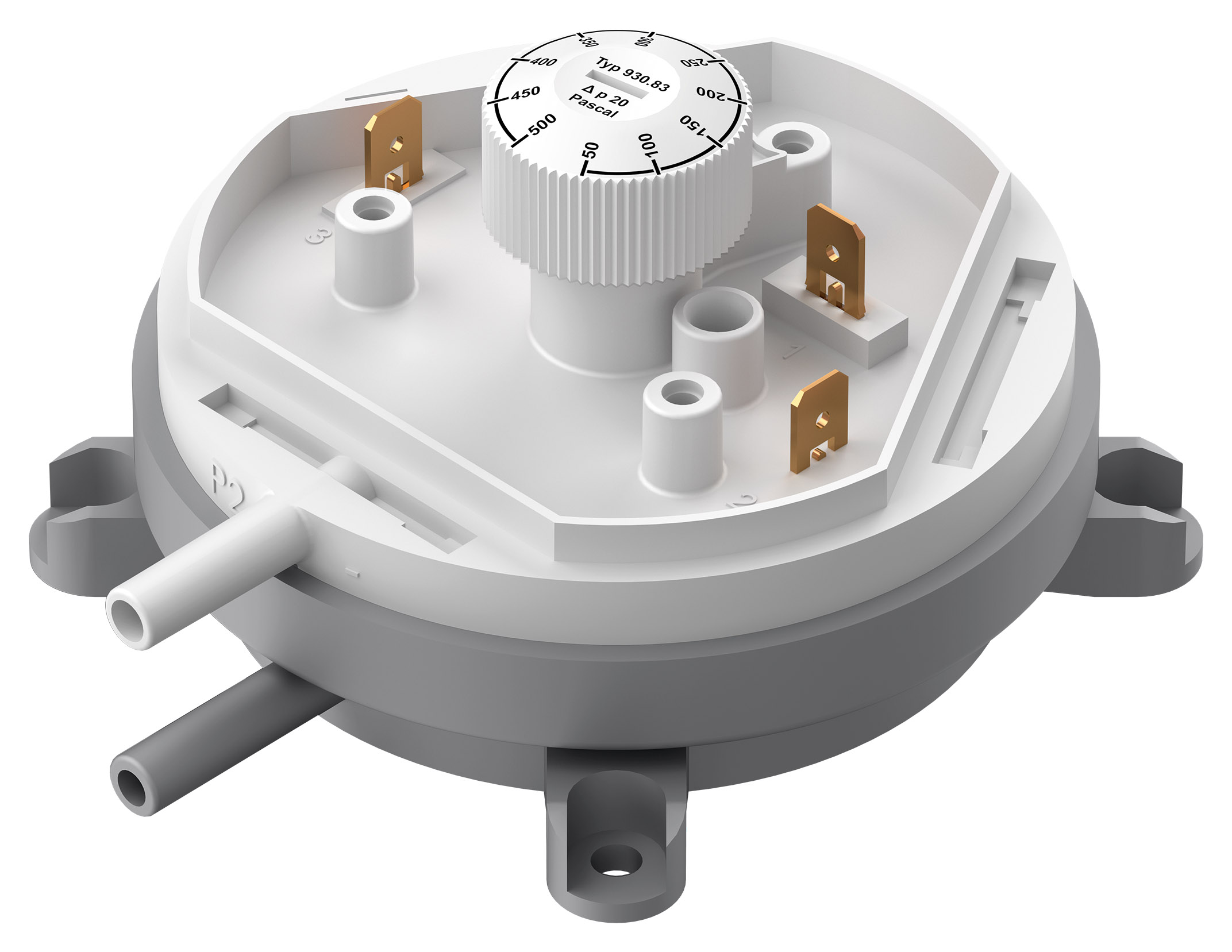 Differential pressure switch 930 adjustable without cover